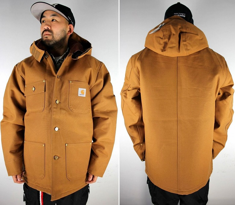 CARHARTT / DUCK CHORE COAT + WOODSIDE HAT / carhartt brown