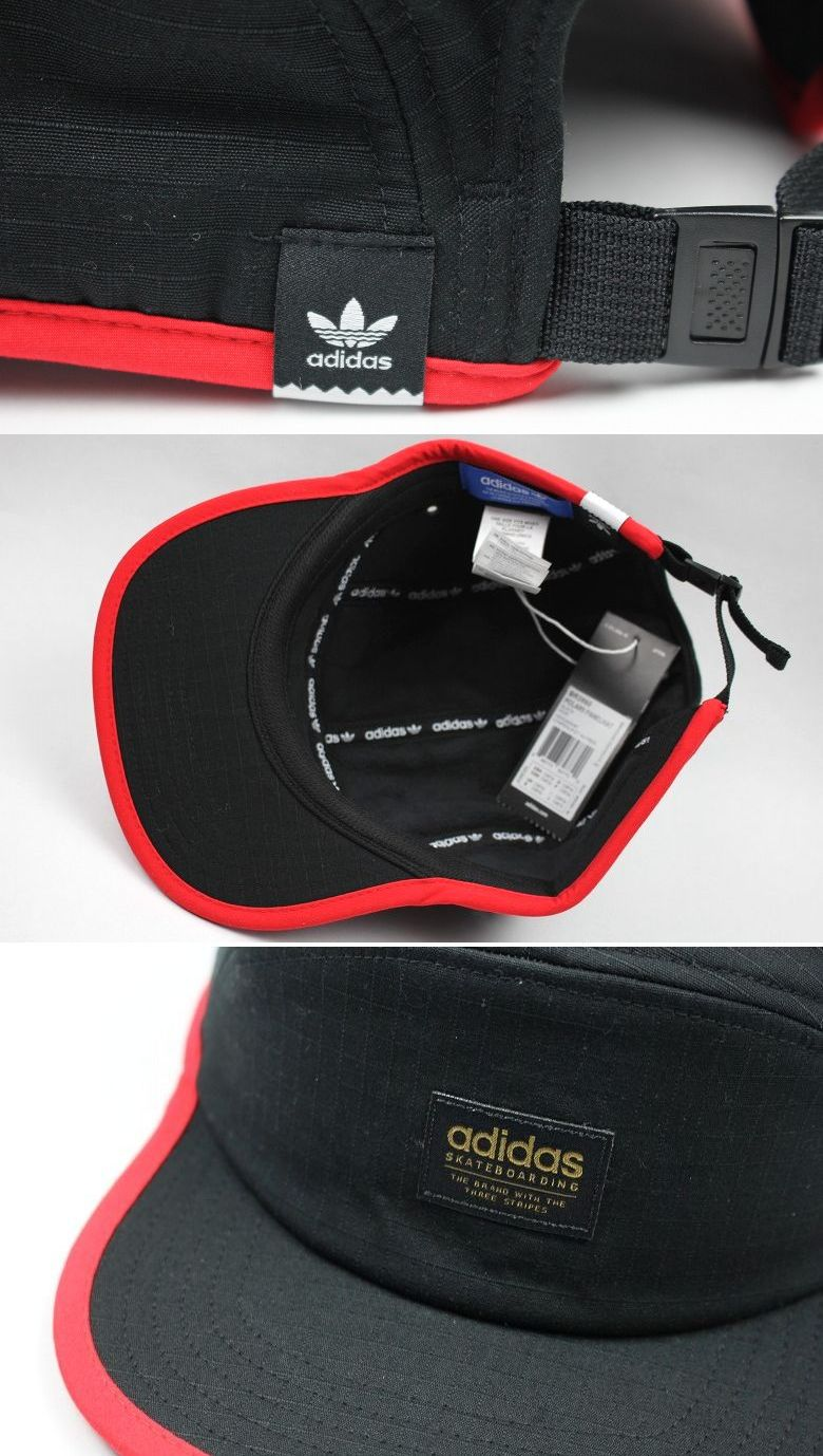 cbadce78276 adidas skateboarding   POLAR 5-PANEL CAP  black×red 商品詳細 ...