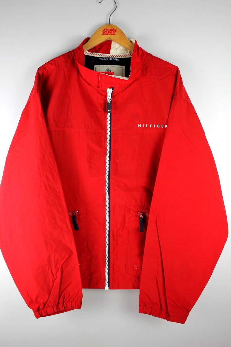 USED!!! TOMMY HILFIGER / NYLON WINDBREAKER (90'S) / red×navy×white