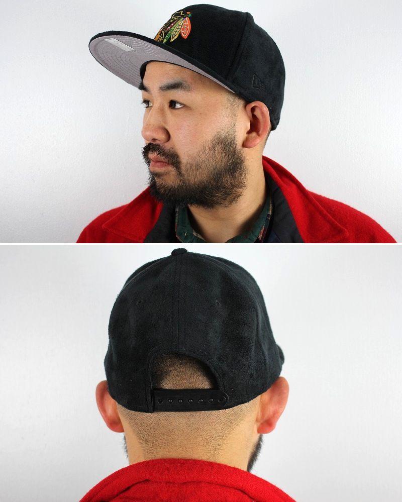"NEWERA / ""CHICAGO BLACK HAWKS"" SUEDE SNAPBACK CAP / black"
