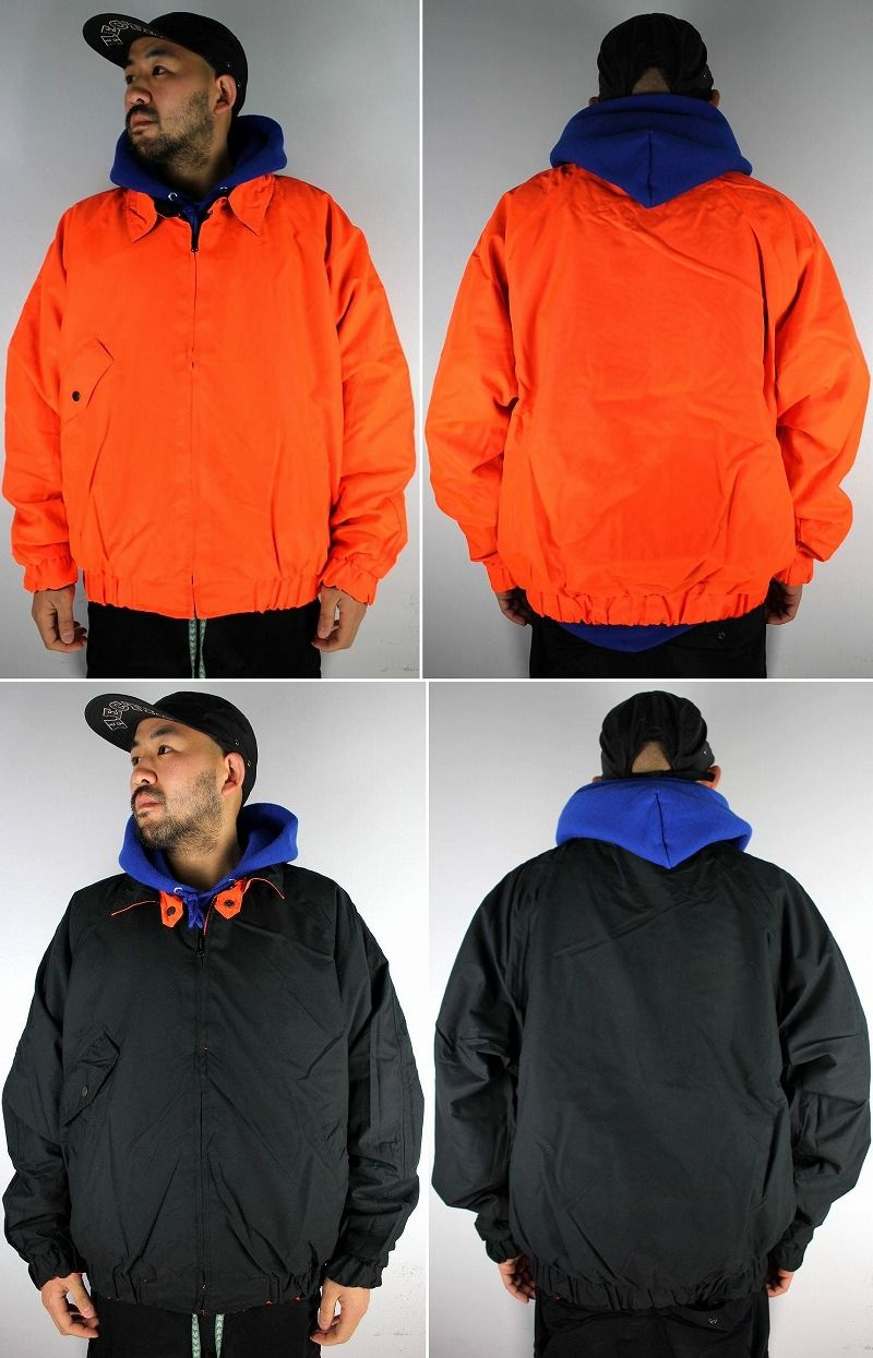 "COBRA CAPS / ""TROOPER"" REVERSIBLE WORK JACKET / orange⇔black"