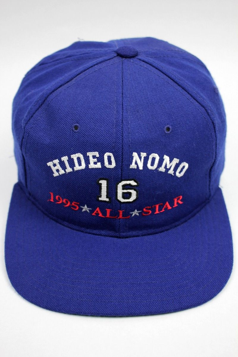 """USED!!! 1995 MLB ALL STAR GAME / """"HIDEO NOMO"""" SNAPBACK CAP (90'S) / blue"""