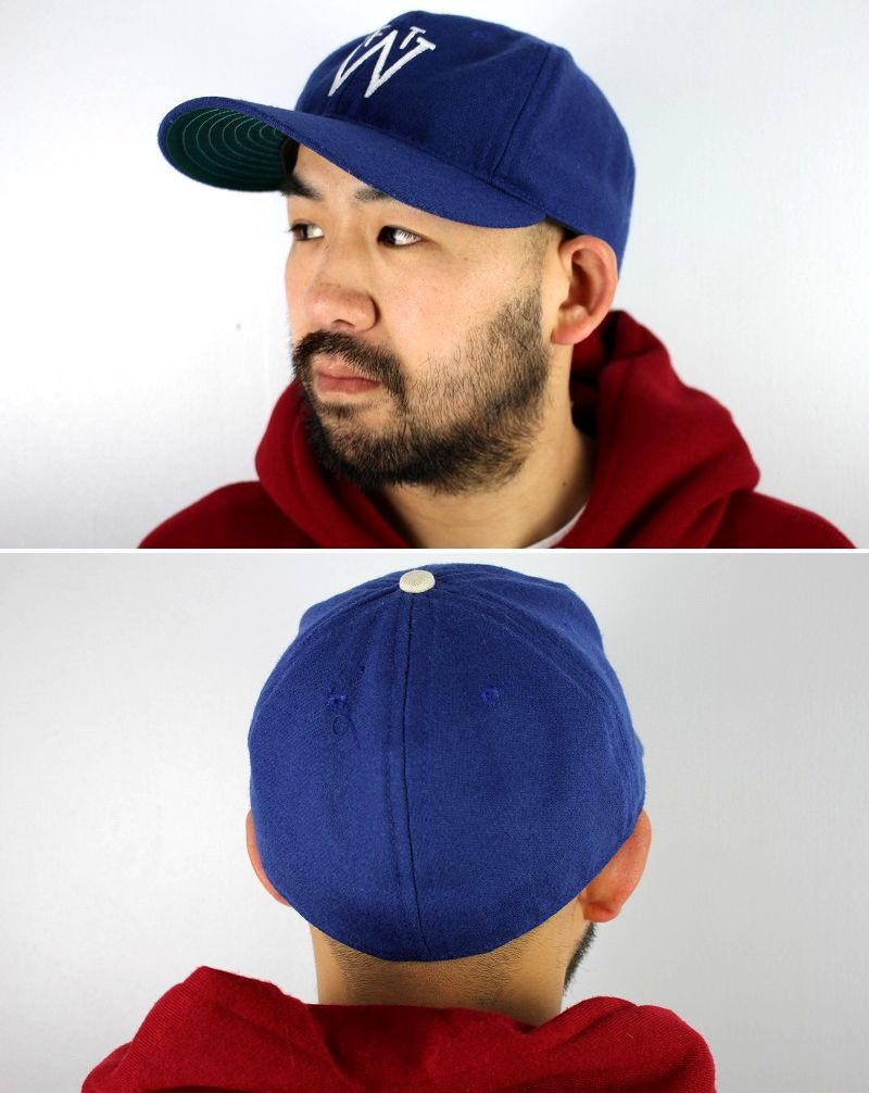 USED!!! EBBETS FIELD / WOOL FITTED CAP / dark blue