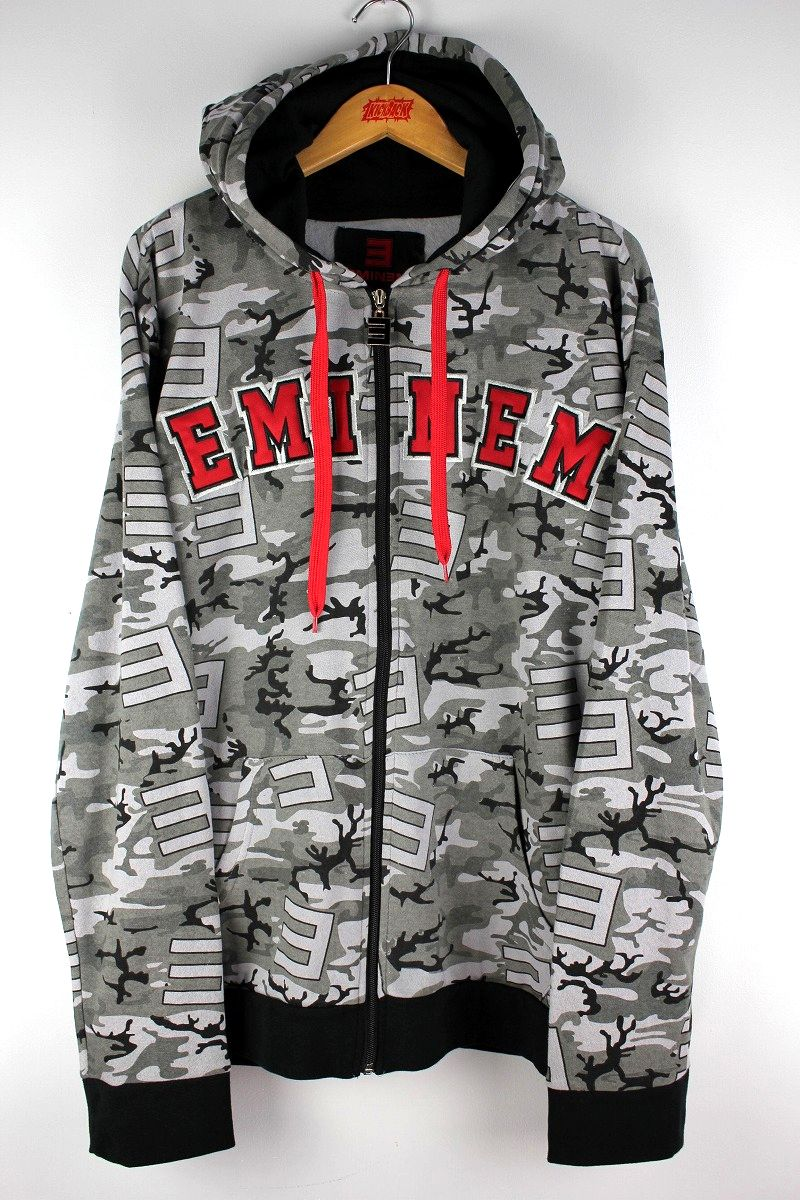 EMINEM / CAMO ZIP-UP HOODY / black