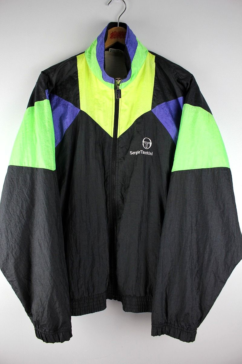 USED!!! SERGIO TACCHINI / NYLON WINDBREAKER (90'S) / multi
