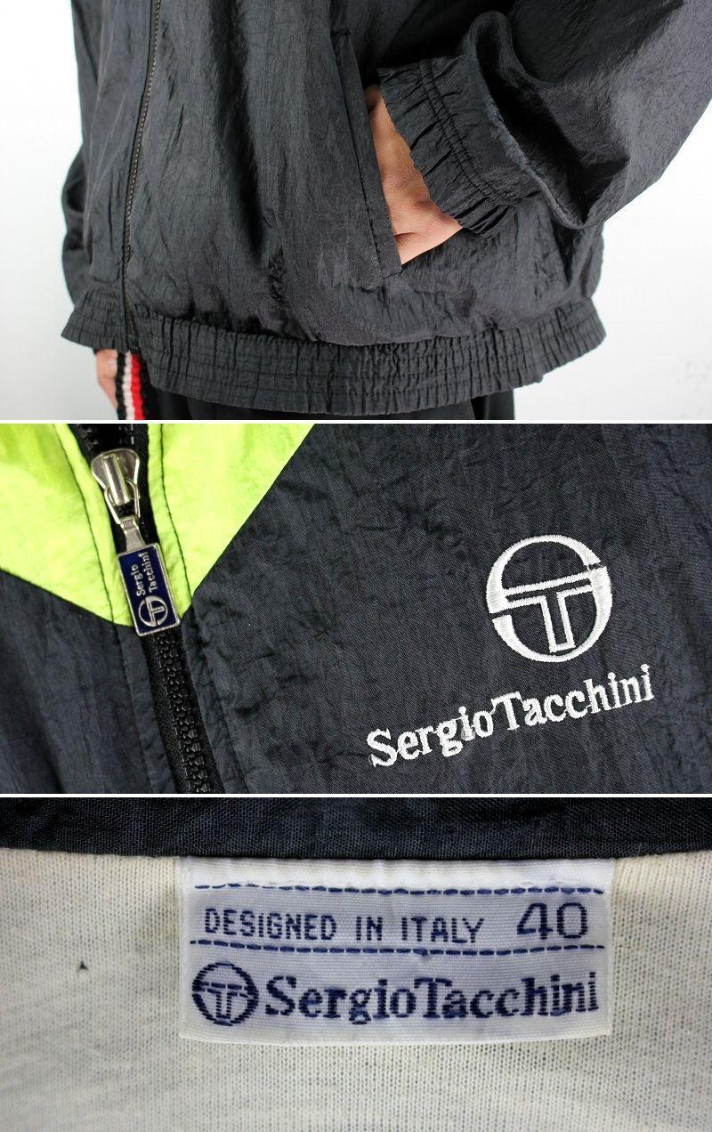 USED!!! SERGIO TACCHINI / NYLON WINDBREAKER (90'S) / multi