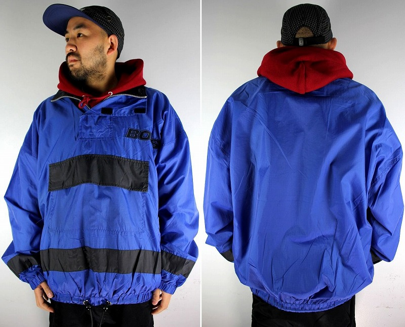 USED!!! BOSS / NYLON ANORAK (90'S) / blue×black