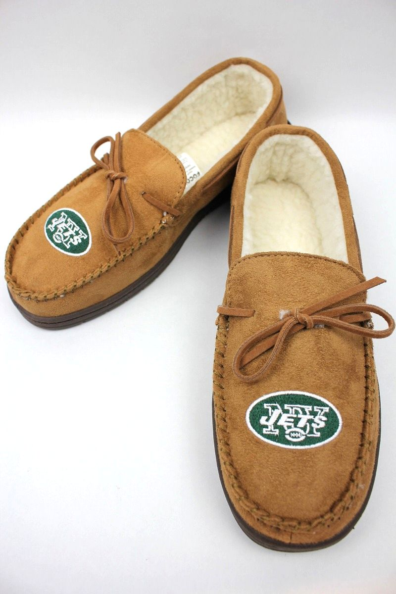 "FOREVER COLLECTIBLES / ""NEWYORK JETS"" ROOM SHOES / light brown"