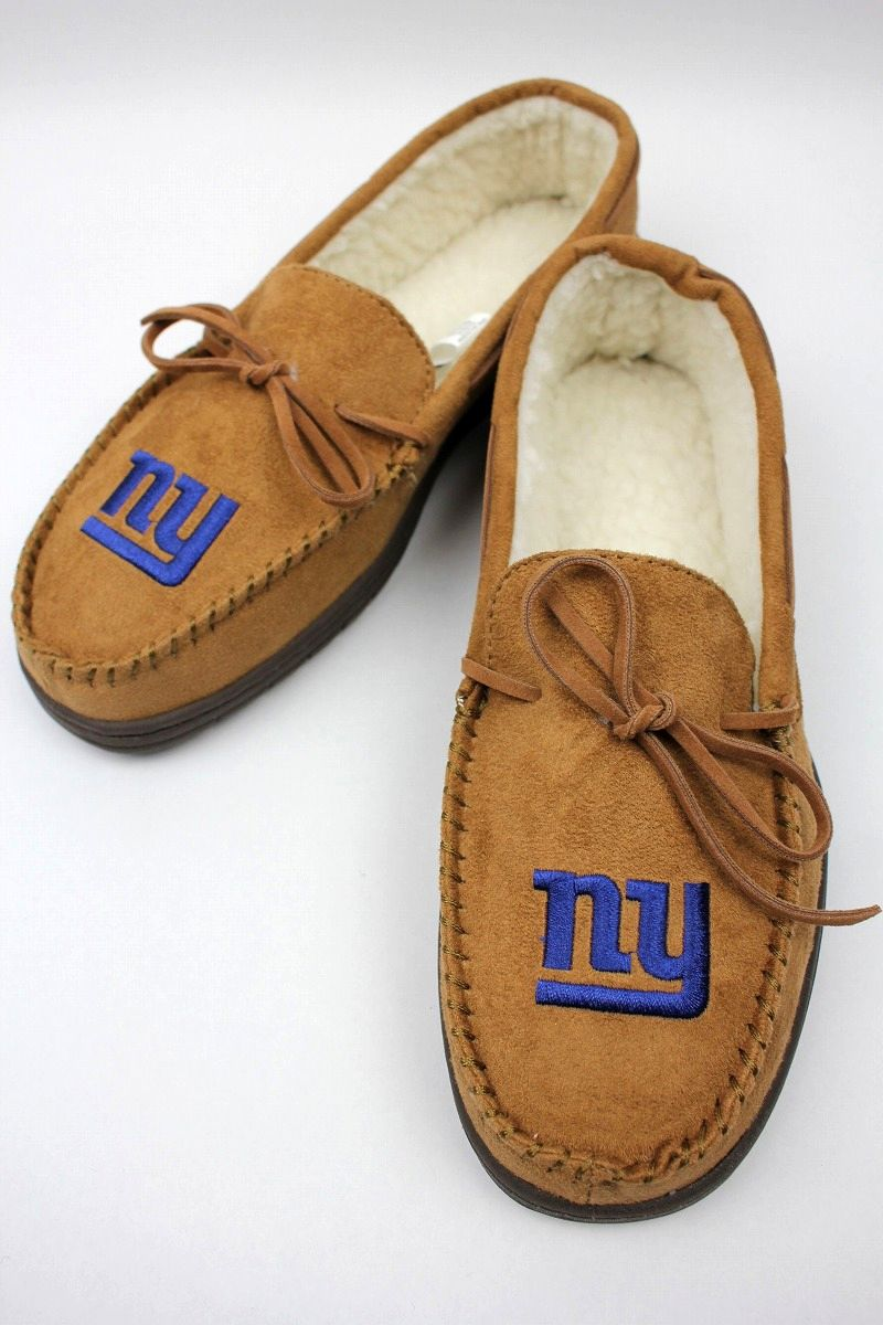 "FOREVER COLLECTABLES / ""NEWYORK GIANTS"" ROOM SHOES / light brown"