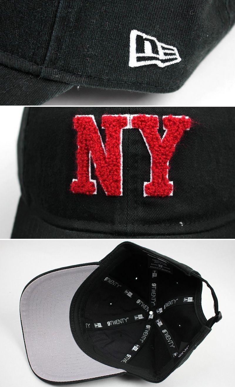 """NEWERA / """"NY"""" STRAPBACK CAP / black×red"""