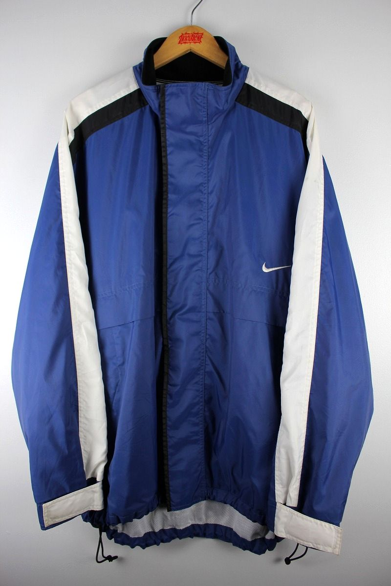 USED!!! NIKE / NYLON WINDBREAKER (90'S) / dark blue×black×white