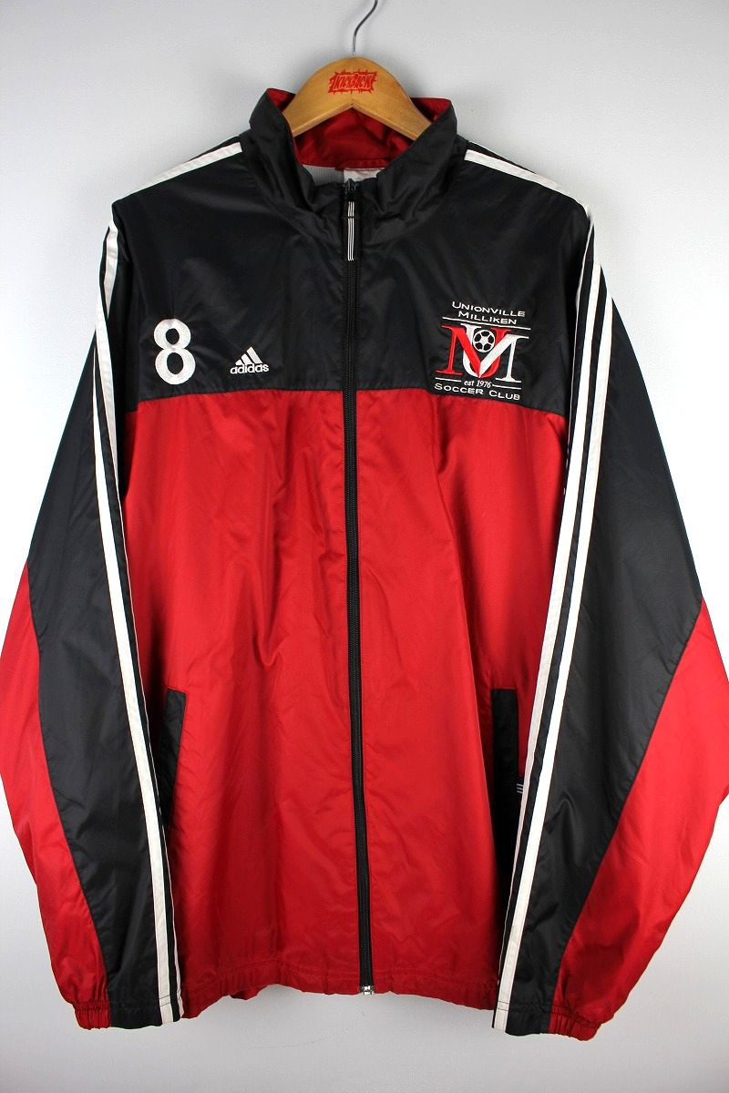 USED!!! adidas / NYLON WINDBREAKER (00'S) / black×red×white