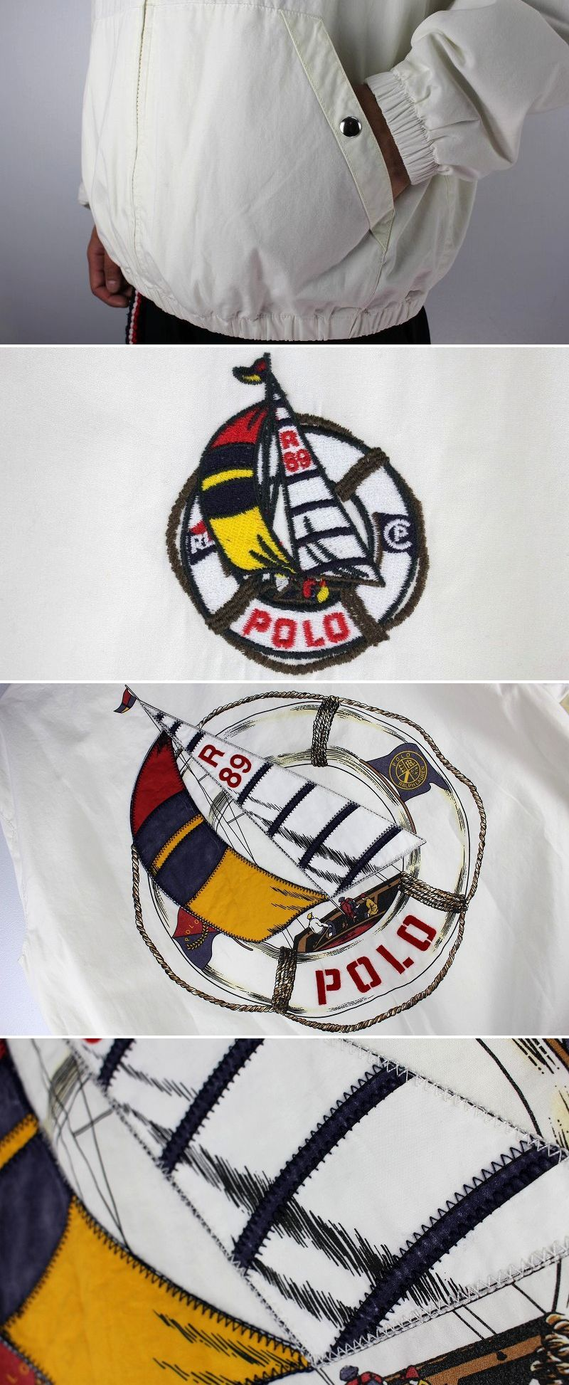 "POLO RALPH LAUREN / ""SAILING"" SWING TOP / white"