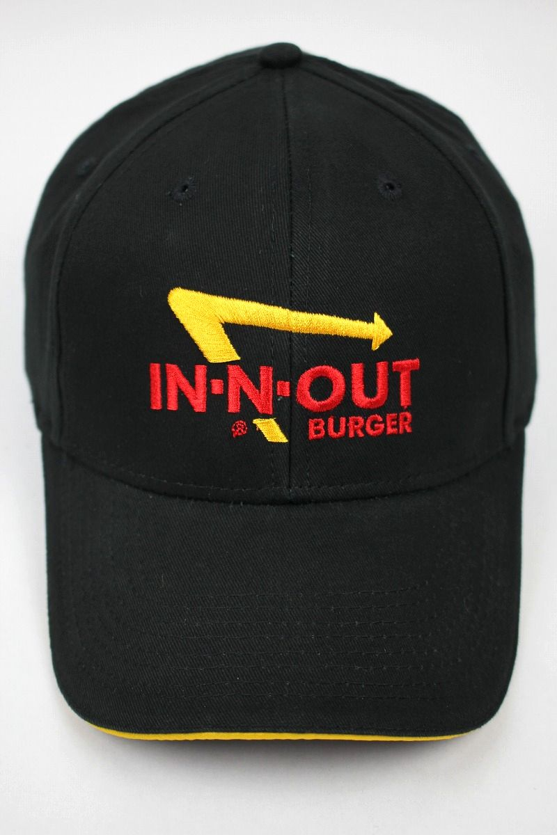 "IN-N-OUT BURGER / ""LOGO"" STRAPBACK CAP / black×yellow"