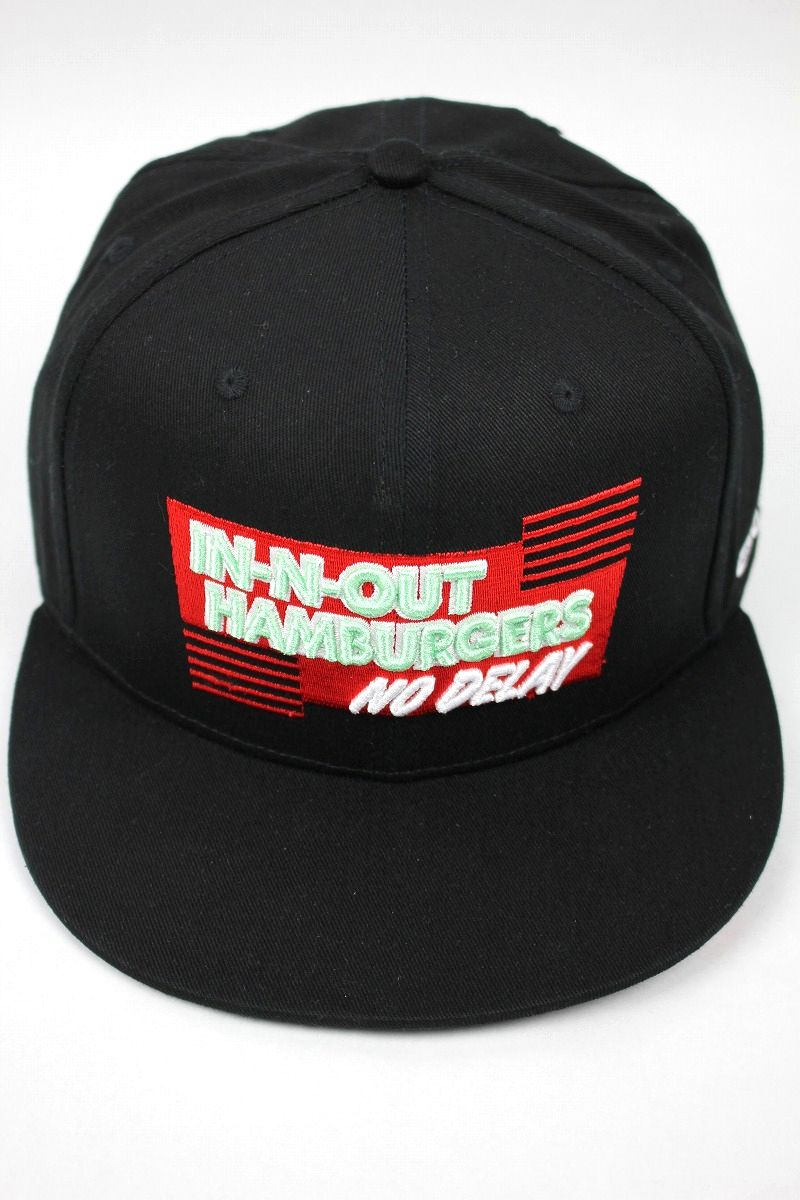 "IN-N-OUT BURGER / ""NO DELAY"" SNAPBACK CAP / black"