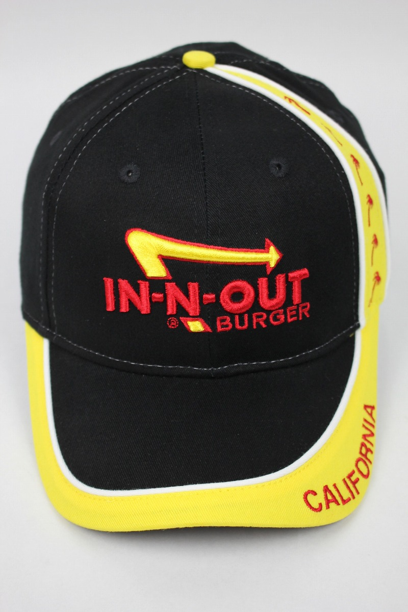 "IN-N-OUT BURGER / ""CALIFORNIA PALM"" STRAPBACK CAP / black×yellow"