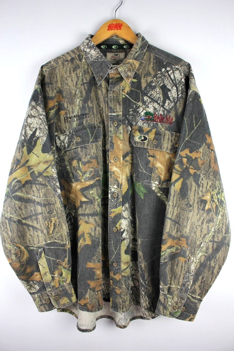 USED!!! MOSSY OAK/ HUNTING SHIRT (00'S) / real tree camo