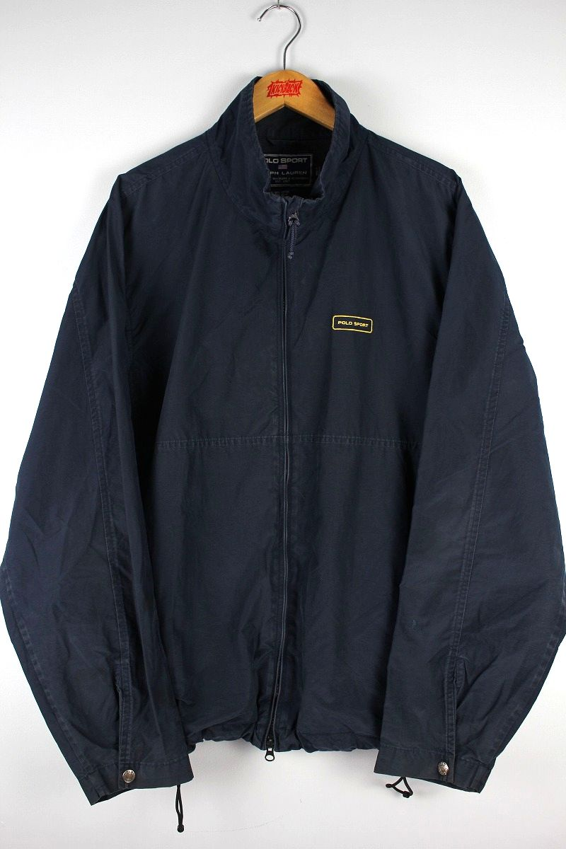 USED!!! POLO SPORT / COTTON-NYLON WORK JACKET (90'S) / navy