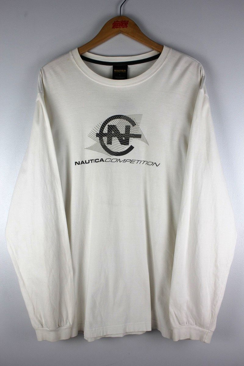 USED!!! NAUTICA / LONG SLEEVE T-SHIRTS (90'S) / white