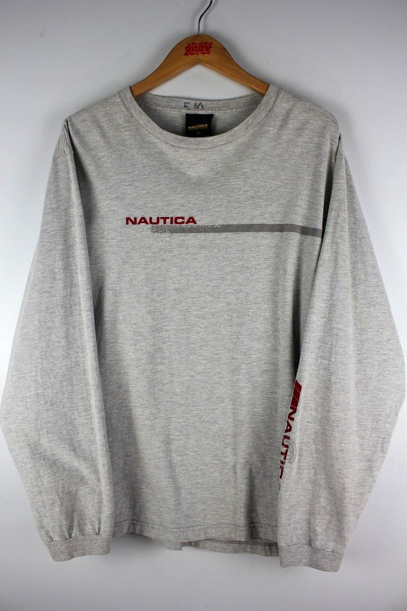 USED!!! NAUTICA / LONG SLEEVE T-SHIRTS (90'S) / heather grey