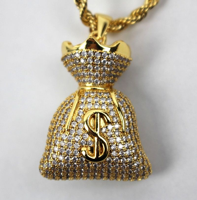 "GOLDEN GILT / ""MONEY BAG"" NECKRACE / gold"