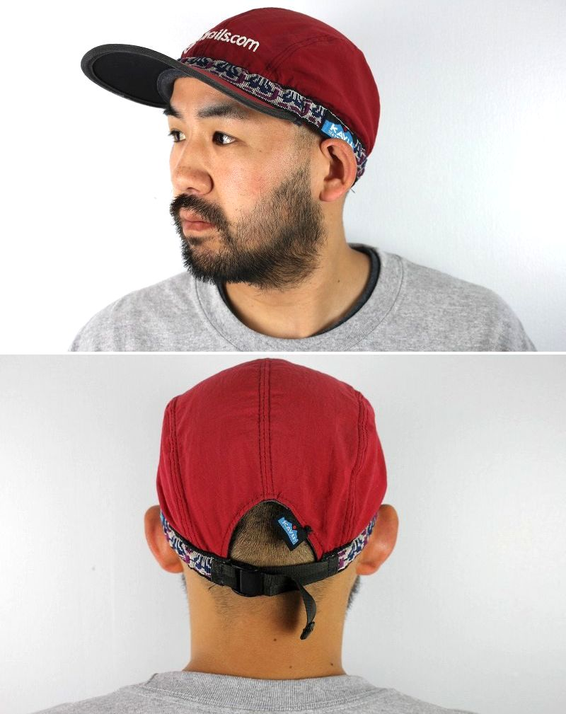 USED!!! KAVU × Trails.com / NATIVE STRAP NYLON CAP (00'S) / red