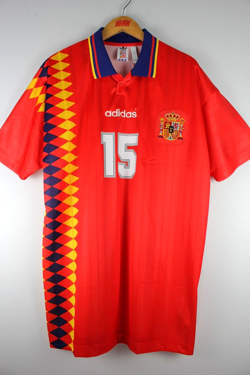 "adidas ORIGINALS / ""1994"" SPAIN JERSEY / red×navy×yellow"