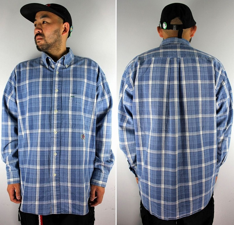 USED!!! TOMMY HILFIGER / PLAID BUTTON DOWN SHIRTS (90'S)