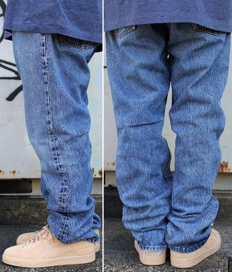 """USED!!! LEVI'S / """"501"""" DENIM PANTS (80'S) / hard stonewash indigo"""