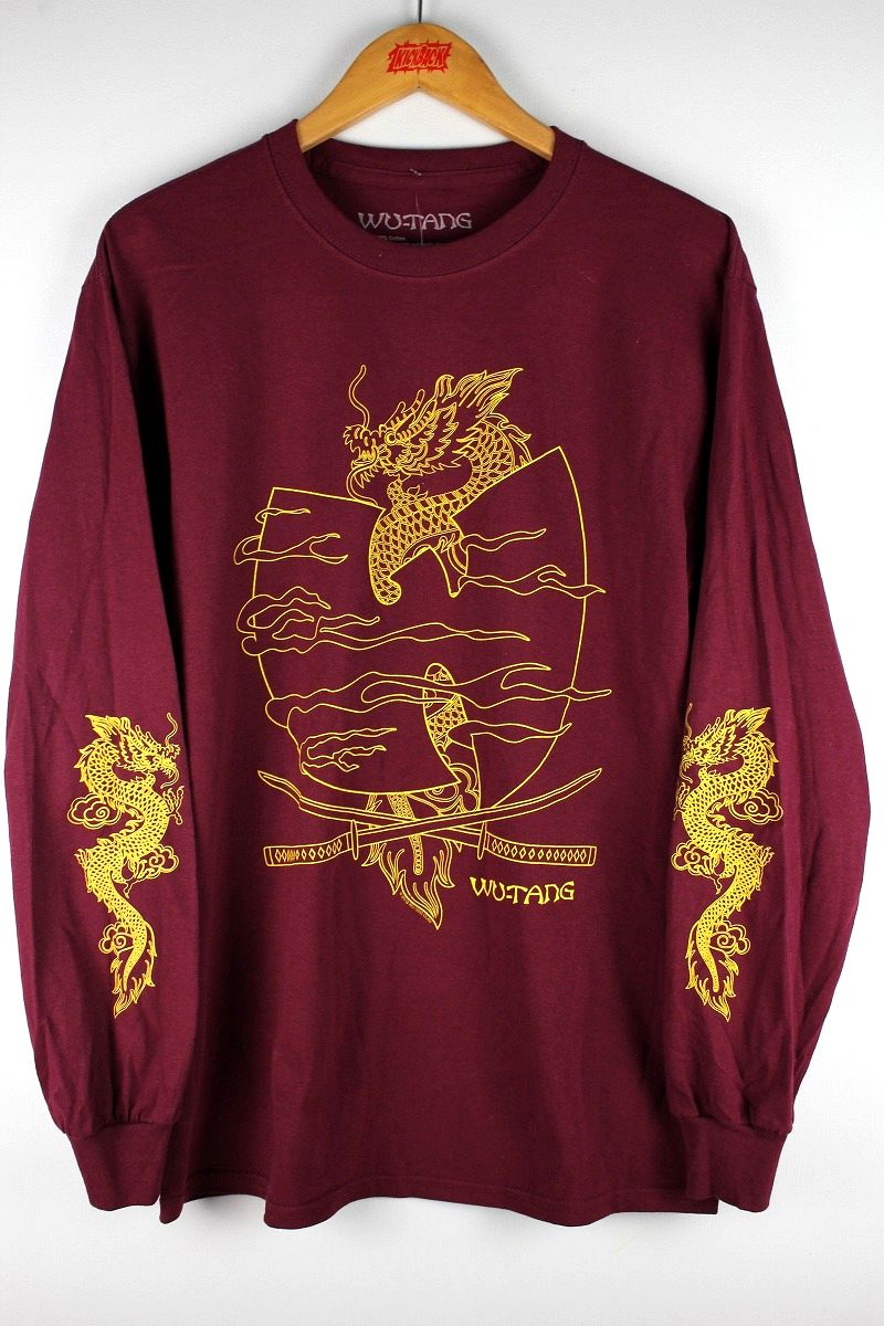 "WU-TANG CLAN / ""CROSSED SWORD"" LS Tee / burgundy"