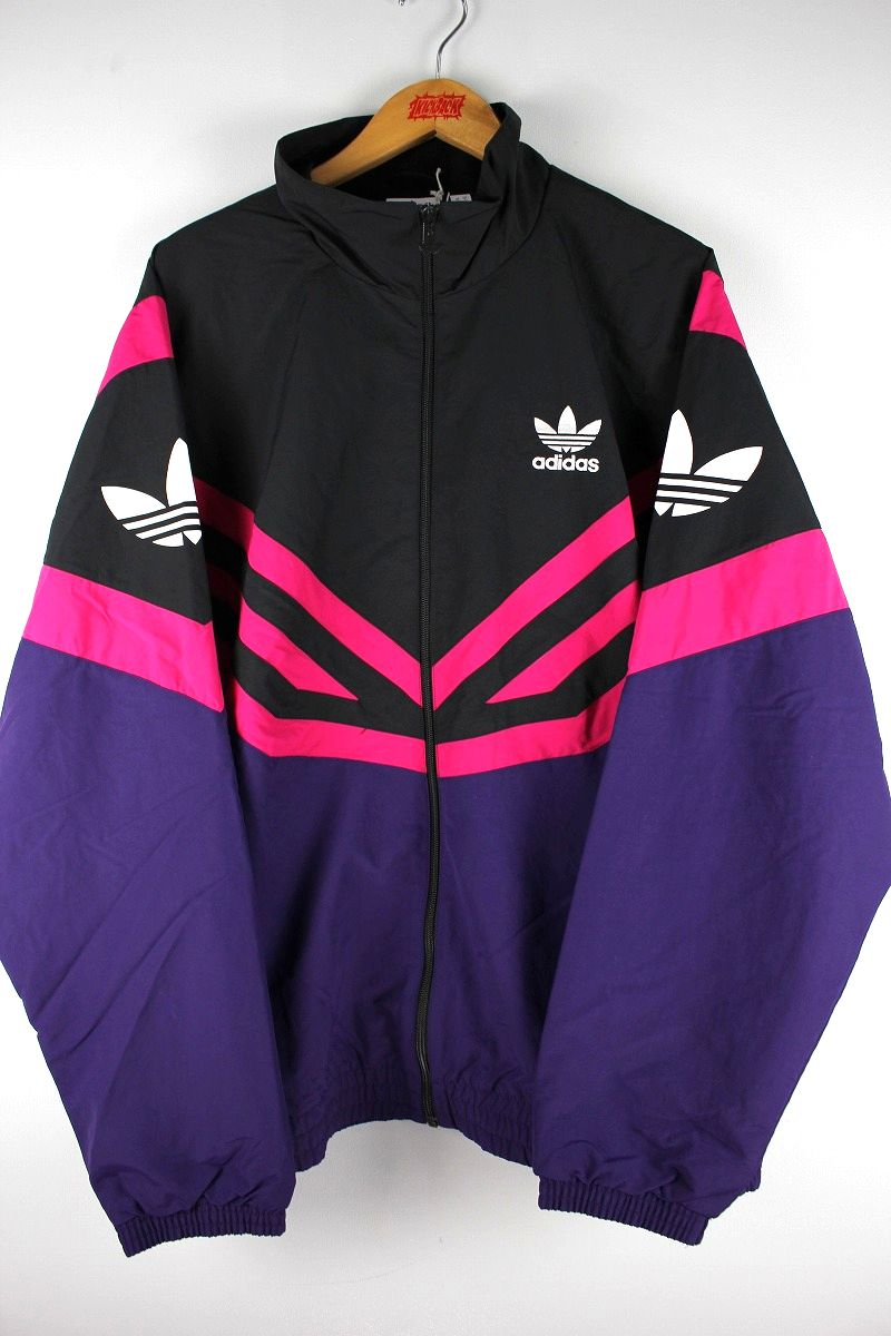 adidas ORIGINALS / SPORTIMO NYLON TRACK JACKET / black×pink×dark purple