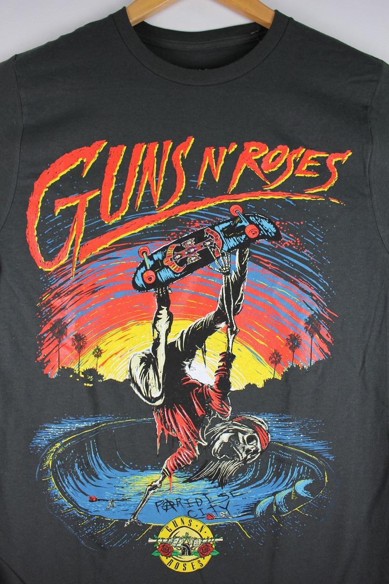 """GUNS N ROSES / """"SKATE"""" Tee / wahed black"""