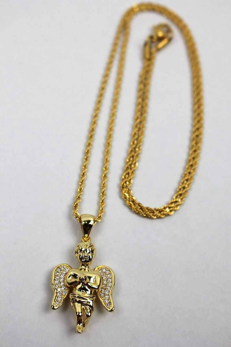 "GOLDEN GILT / ""ANGEL"" NECKRACE / gold"