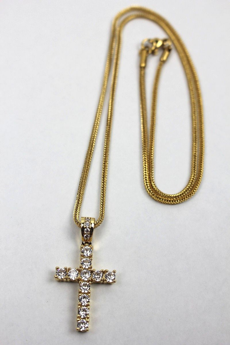 "GOLDEN GILT / ""CROSS"" NECKRACE / gold"