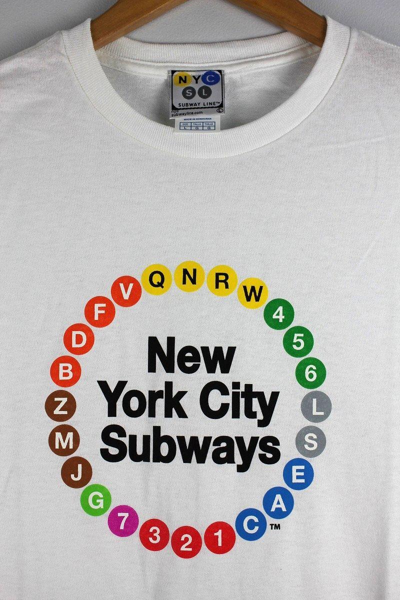 "NYC SUBWAY / ""MULTI-CIRCLE"" Tee / white"