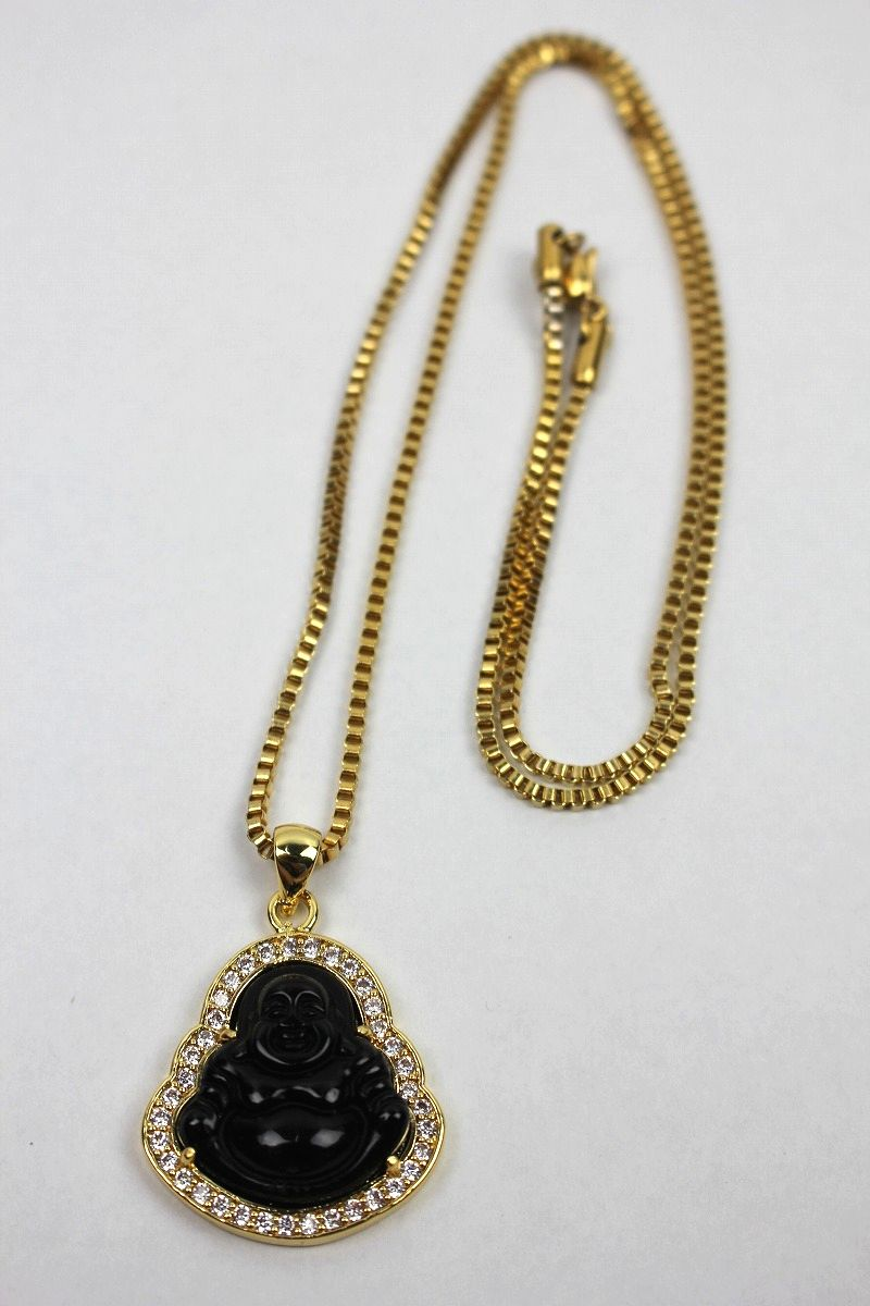 "GOLDEN GILT / ""BLACK BUDDHA"" NECKRACE / gold"