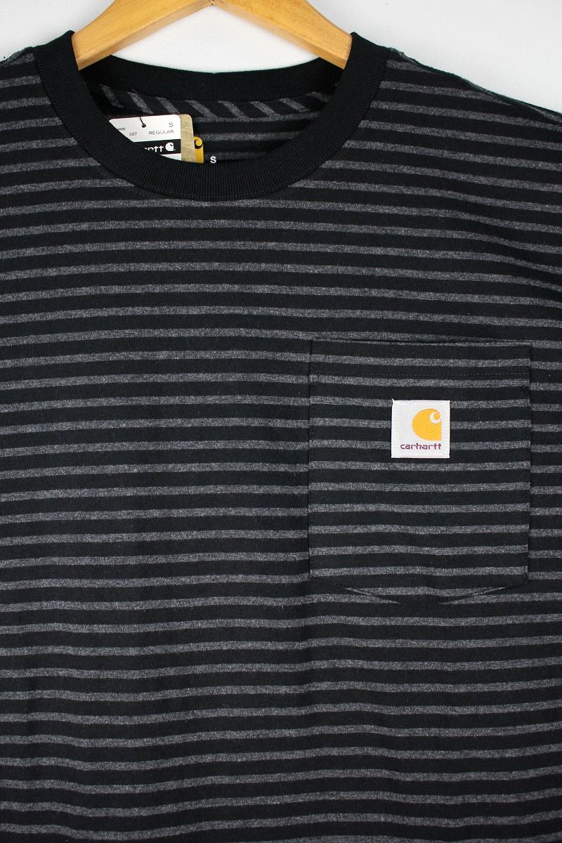 CARHARTT / BORDER POCKET Tee / black