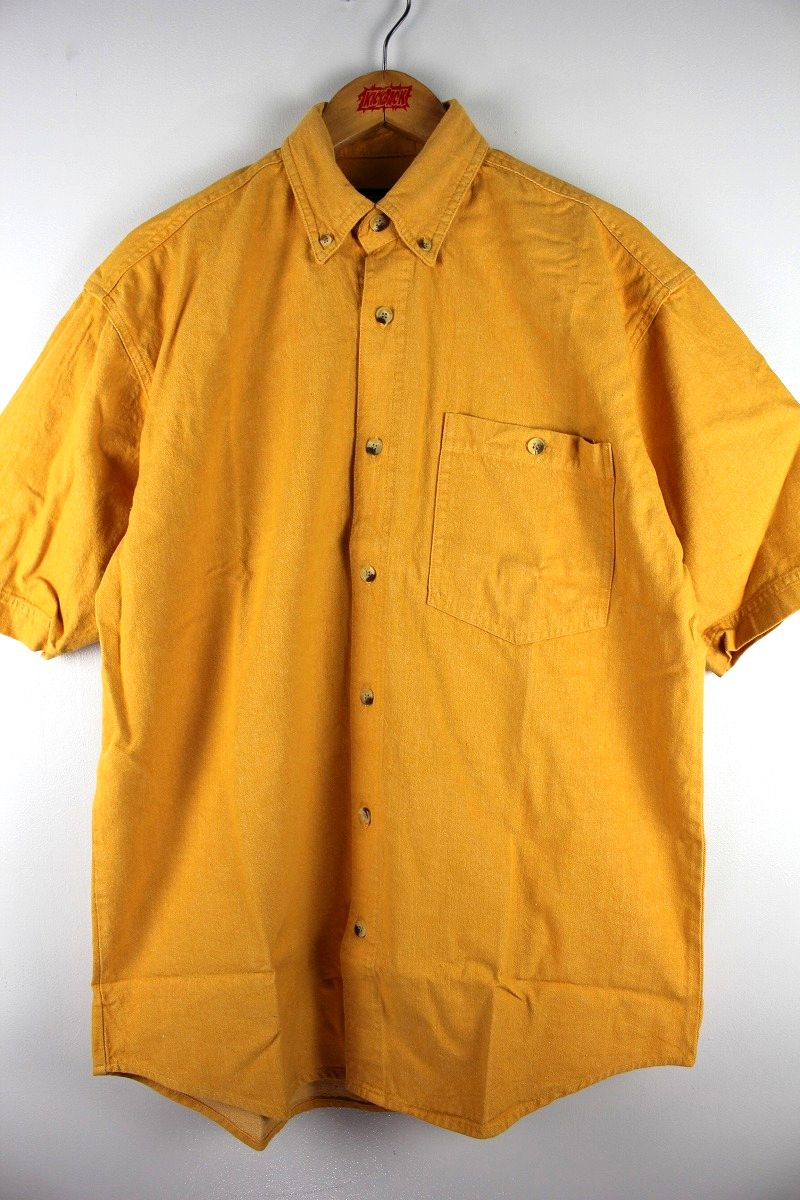 COBRA CAPS / RELAX FIT SS DENIM SHIRTS / mustard