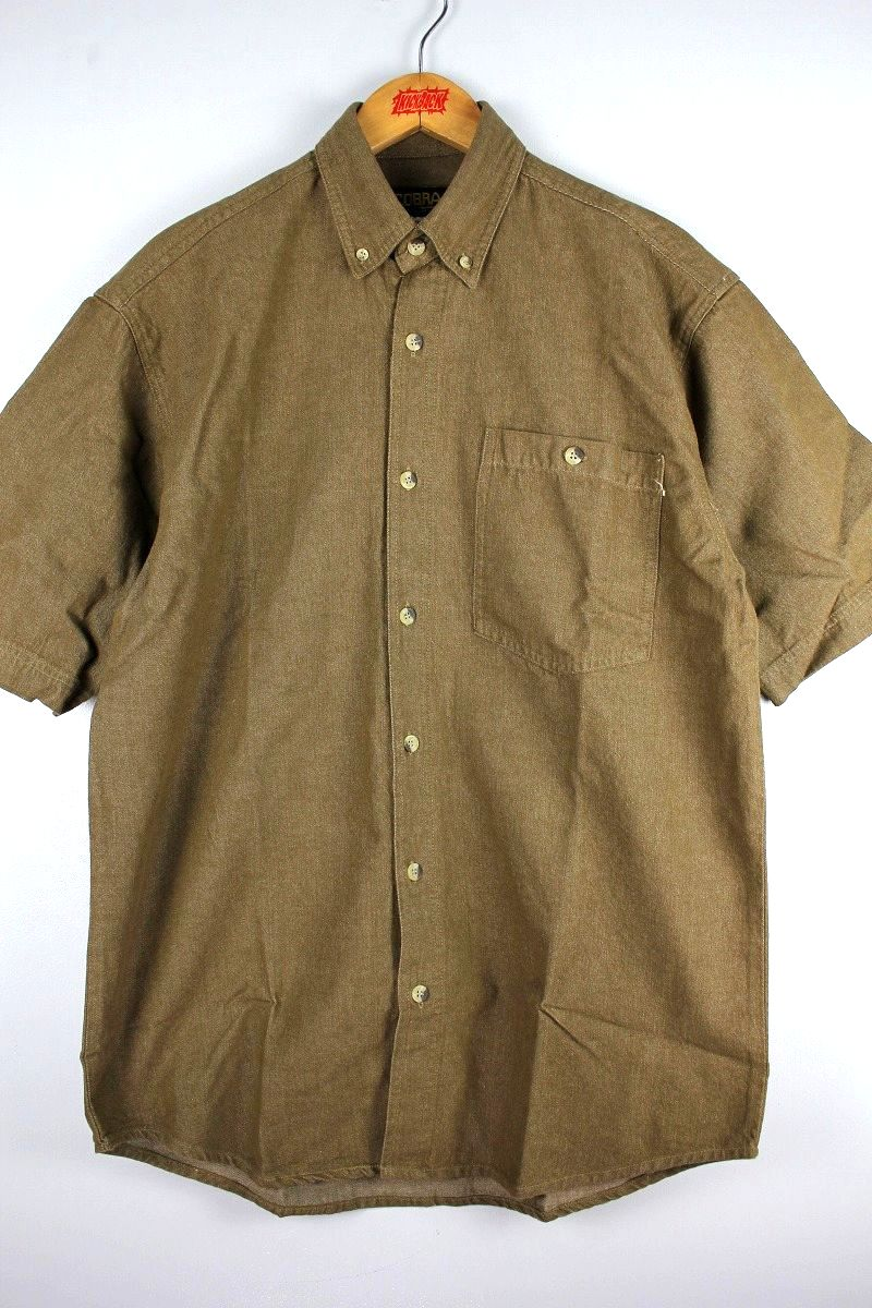 COBRA CAPS / RELAX FIT SS DENIM SHIRTS / brown