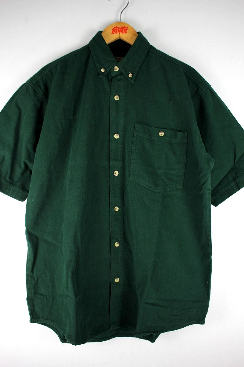 COBRA CAPS / RELAX FIT SS DENIM SHIRTS / dark green