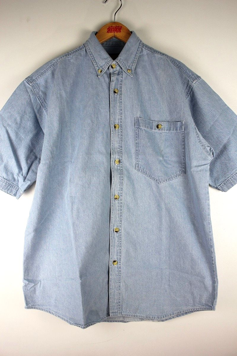 COBRA CAPS / RELAX FIT SS DENIM SHIRTS / stonewash indigo