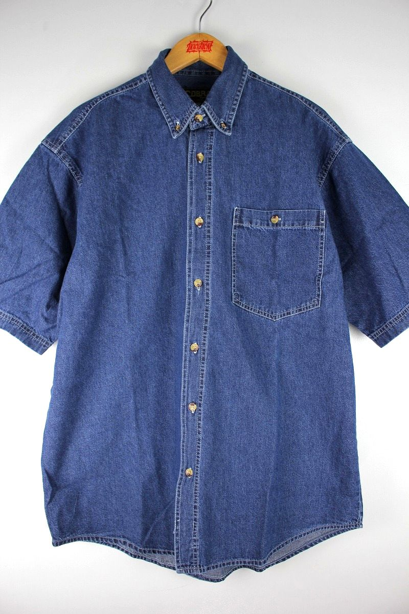 COBRA CAPS / RELAX FIT SS DENIM SHIRTS / indigo
