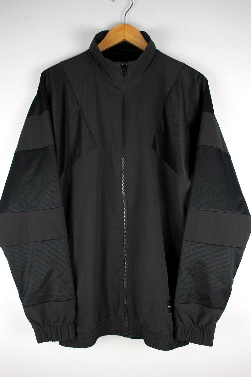adidas EQUIPMENT / BOLD NYLON TRACK JACKET / black×black