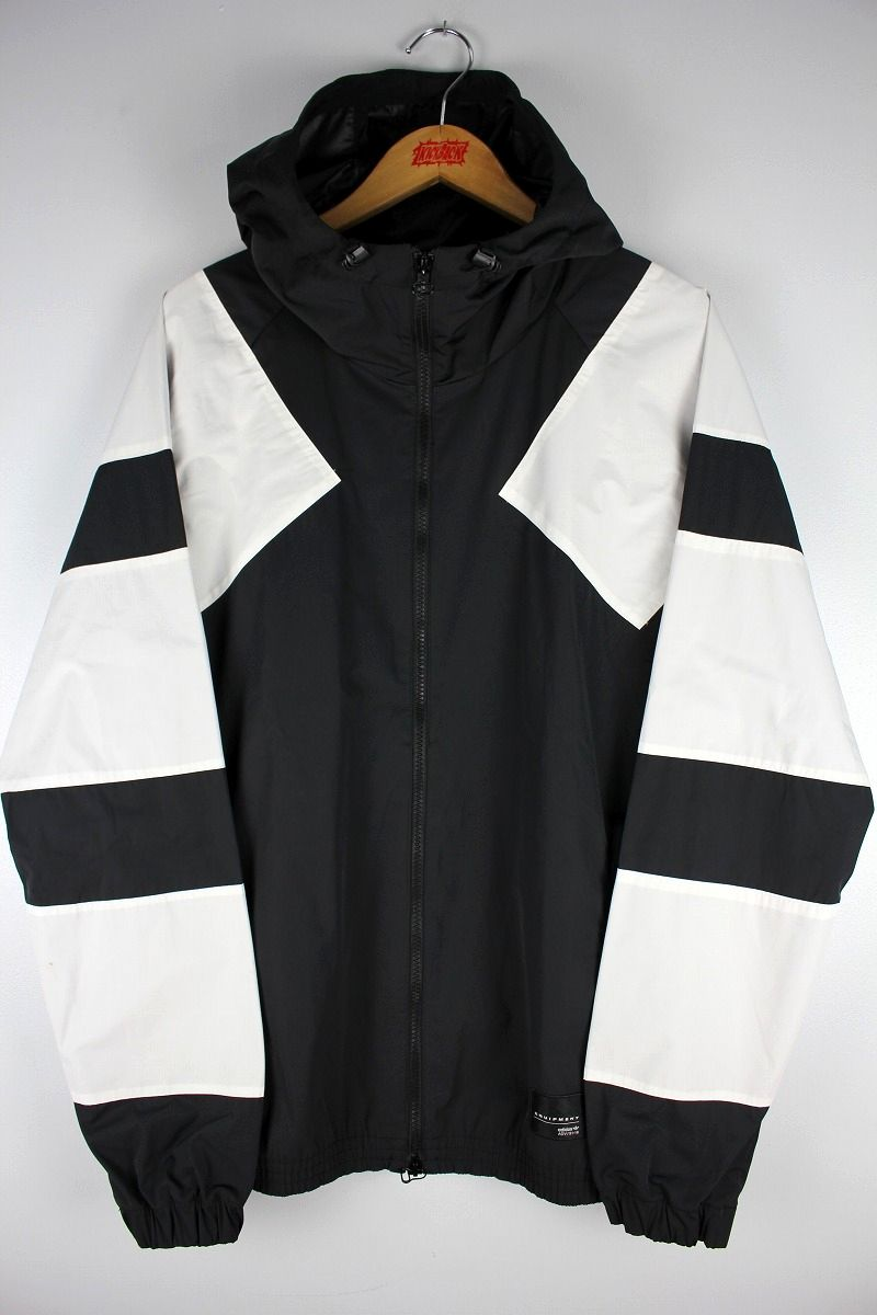 adidas EQUIPMENT / HOODED WINDBREAKER / black×white