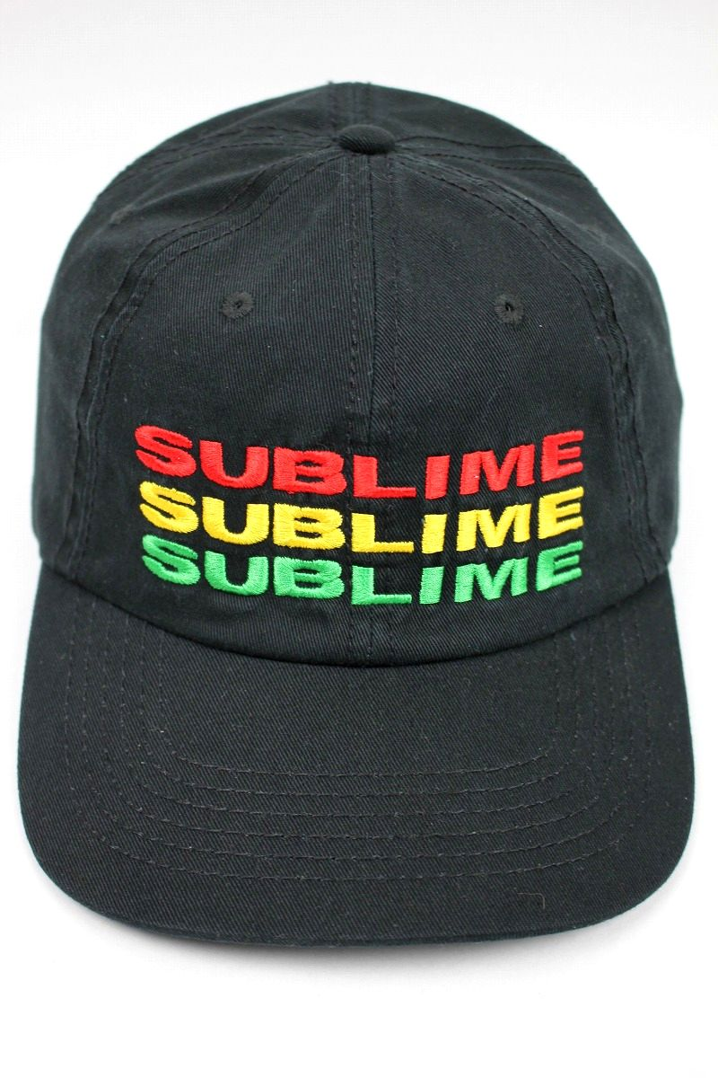 "SUBLIME / ""TRIPLE LOGO"" STRAPBACK CAP / black"