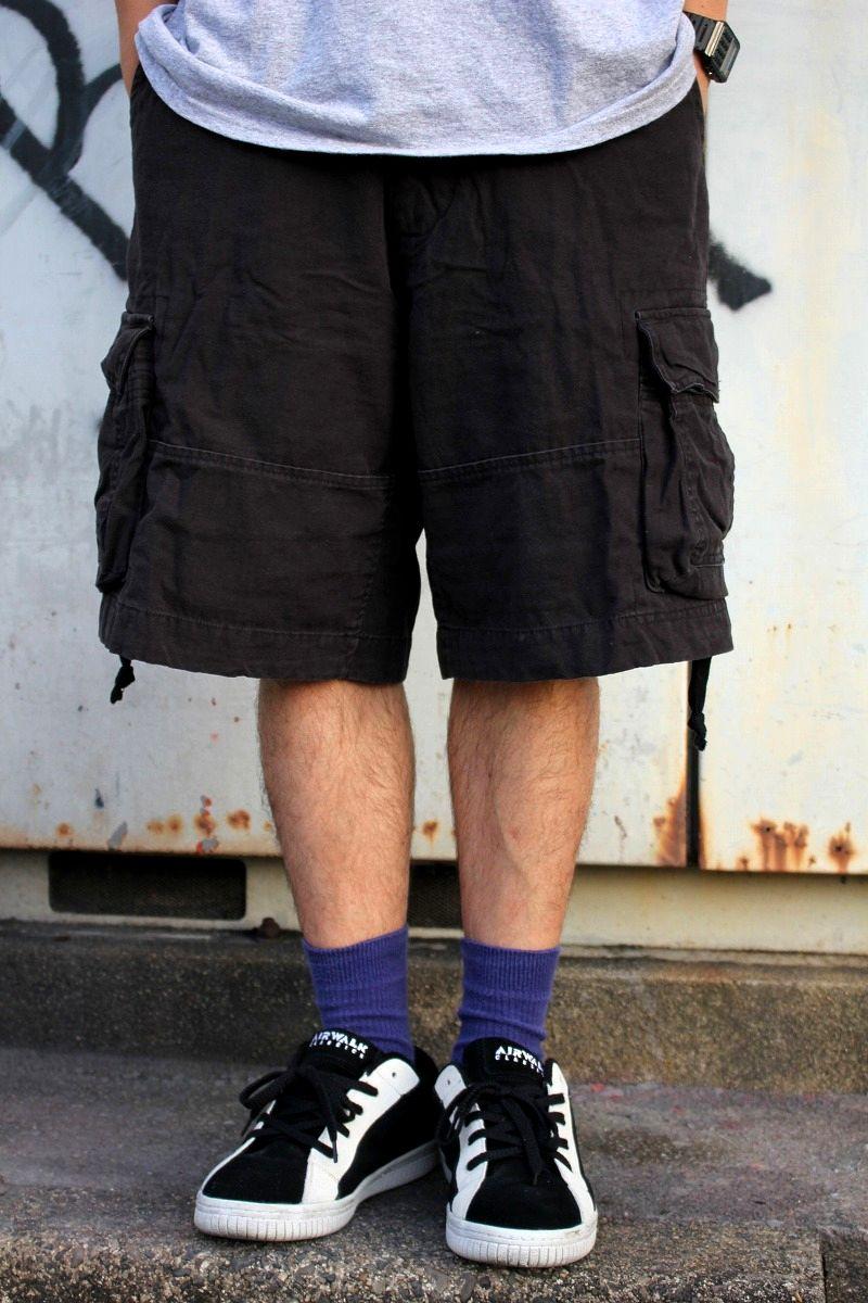 ROTHCO / 6POCKET VINTAGE CARGO SHORTS / washed black