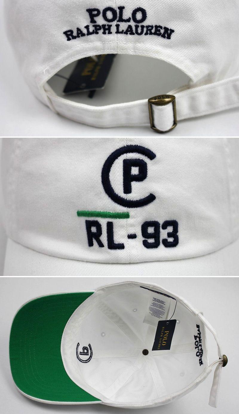 "POLO RALPH LAUREN / ""RL-93"" STRAPBACK CAP / white"