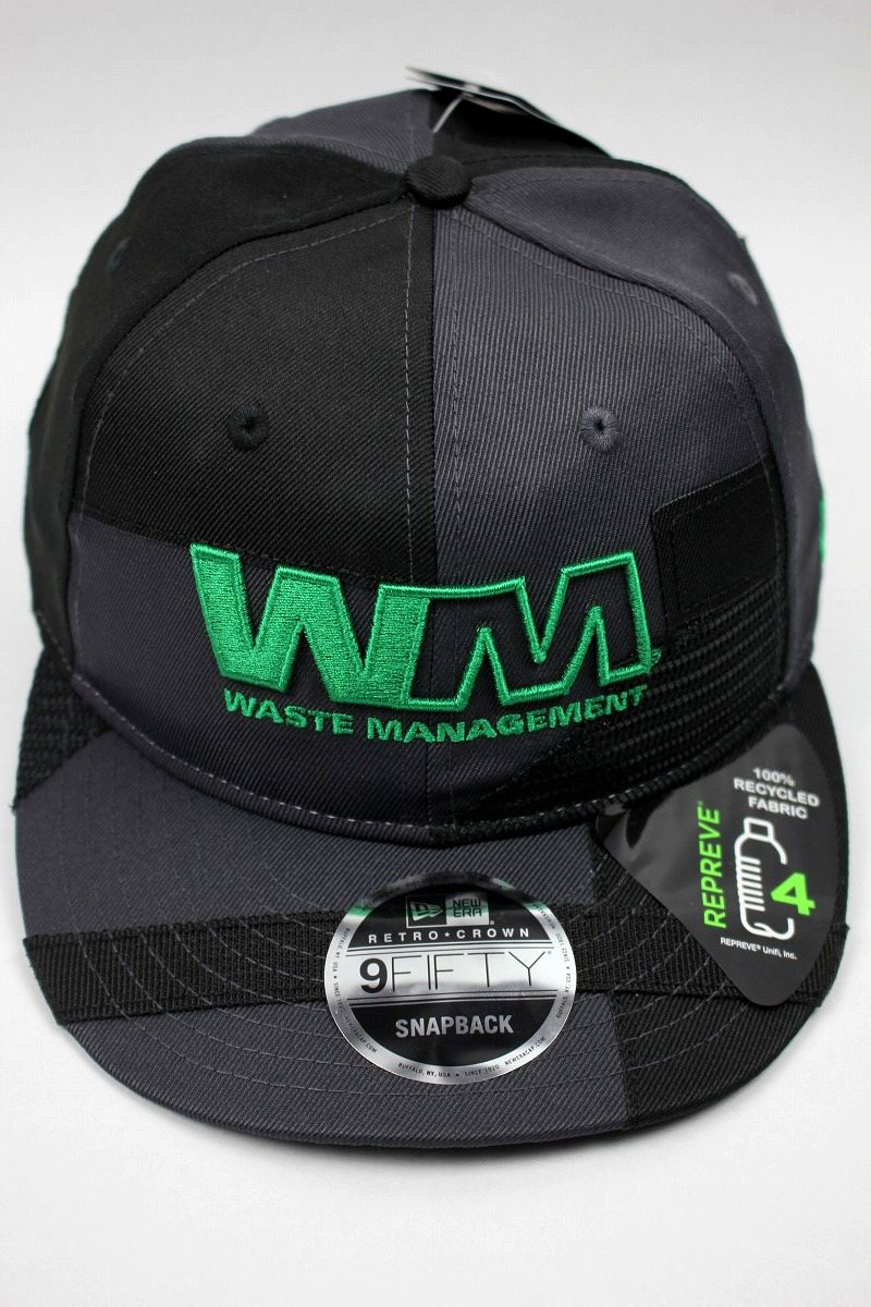 NEWERA×WASTE MANAGEMENT / RECYCLED FABRIC STRAPBACK CAP / black