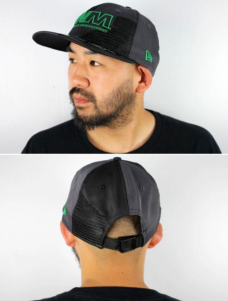 NEWERA×WASTE MANAGEMENT / RECYCLED FABRIC STRAPBACK CAP / black