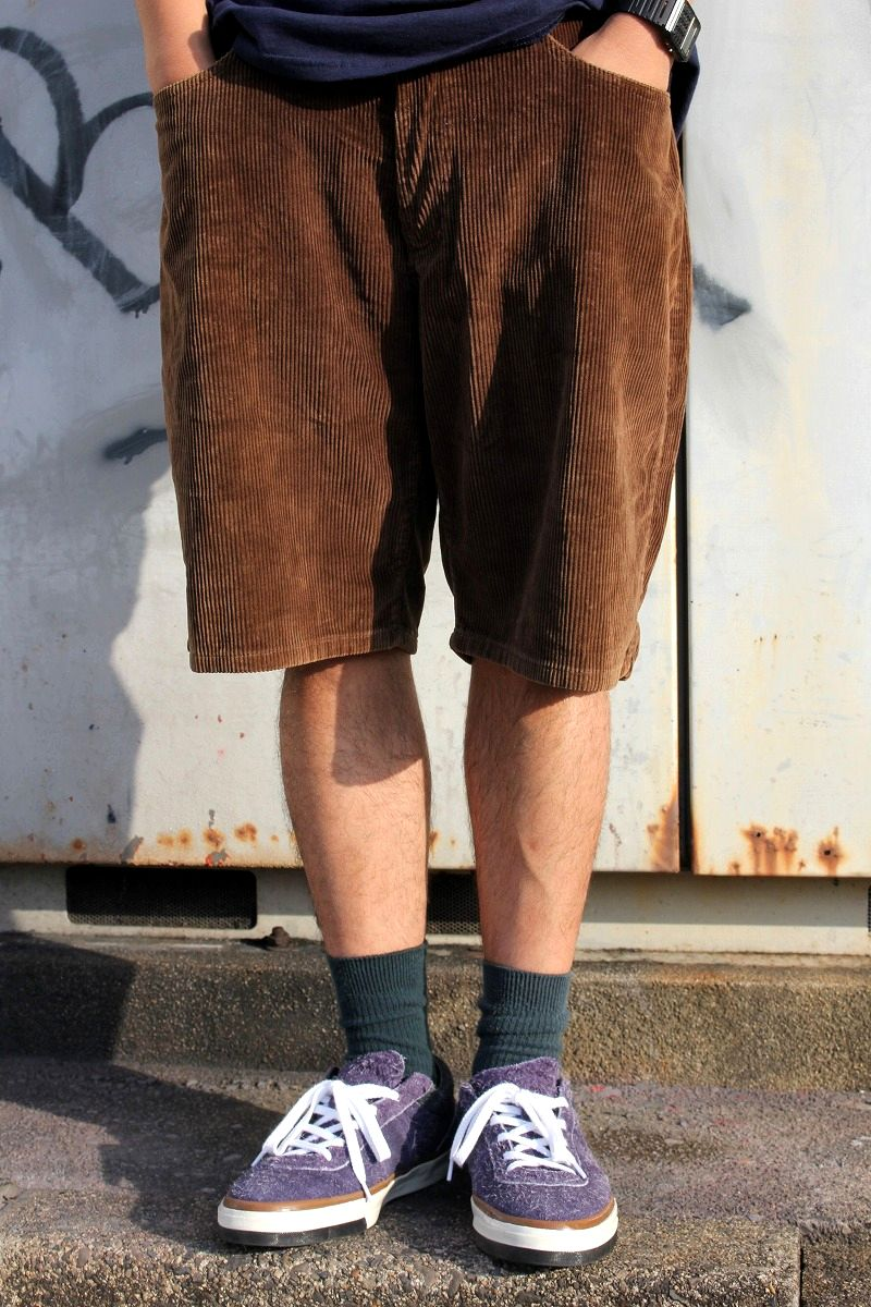 USED!!! STUSSY / CORDUROY SHORTS (90'S) / brown